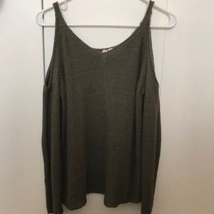 Sweaters - Olive green knit sweater boutique
